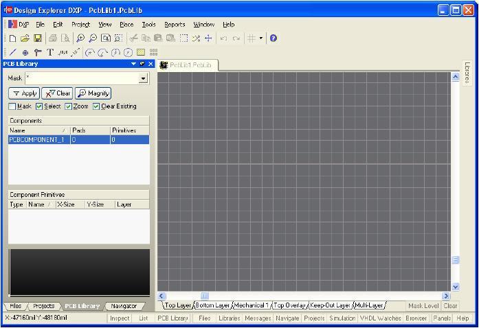 protel dxp 创建pcb元件封装和原理图元件库[图]
