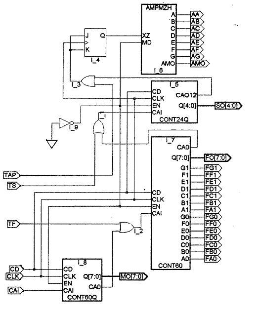 图8 数字钟子电路