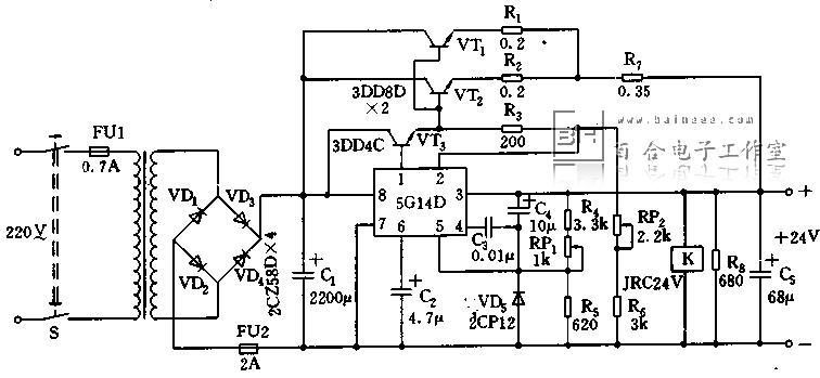 24v电源由于采用了核心元件集成块稳压输出电路,则有必要了解一下