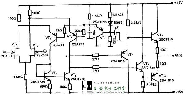 组成的宽带放大器电路