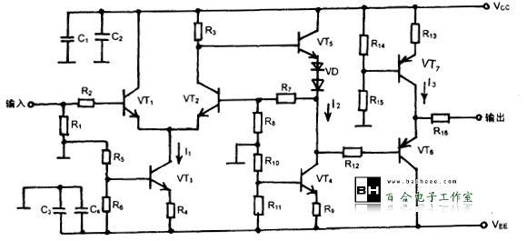 晶体管视频放大器电路