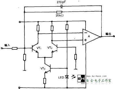 图2是反相放大电路,图3是将差动放大器的负载接vt