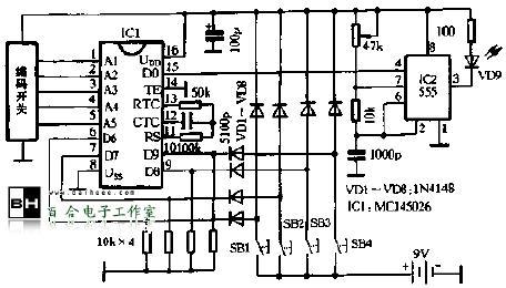 多路红外遥控器-百合电子工作室