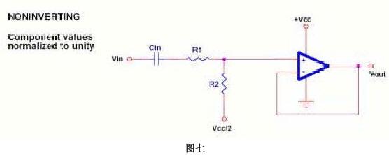 图七是一个反相加法器