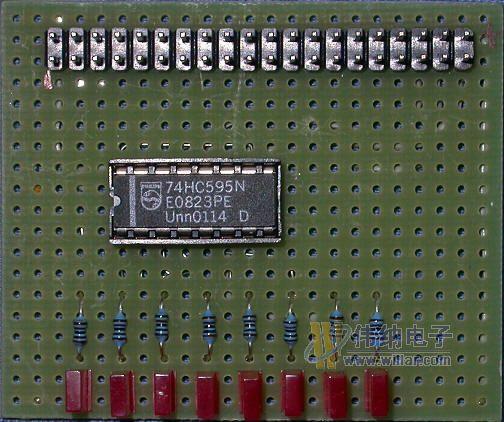 硬盘连接线将自制电路板与me300的仿真接口连接即可